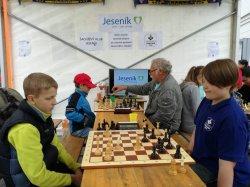 Šachový klub Jeseník na Sousedských slavnostech v Jeseníku