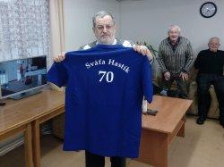 Ikona klubu Svaťa Hastík oslavil 70.narozeniny